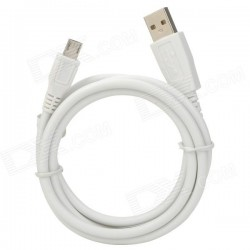 Cable datos carga compatible blanco micro USB