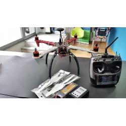 Dron para pescar con calado, f450, gps, brujula, 4-axis, emisora, cargador, bateria